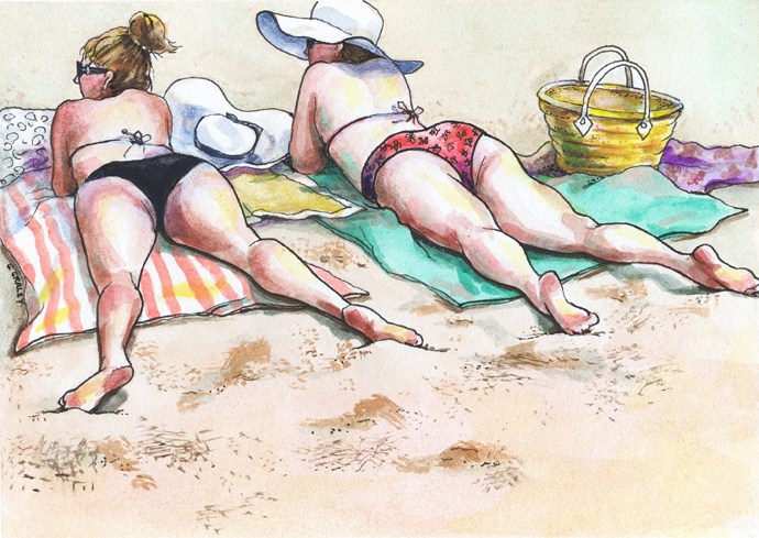 """Fifteen Minutes, Each Side"" original fine art by Geri Graley"