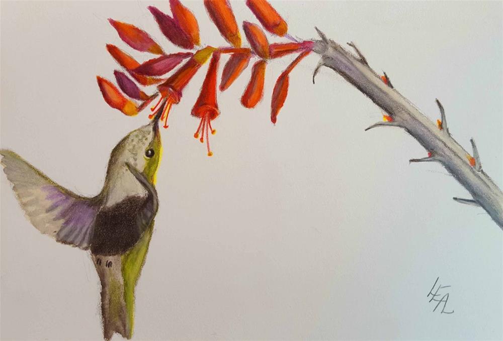 """Ocotillo Acrobat"" original fine art by Anna Lisa Leal"