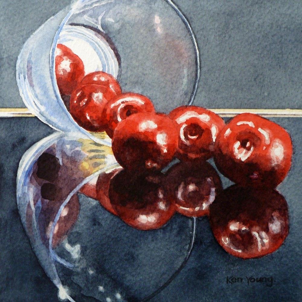 """""""Cherry Spill"""" original fine art by Ken Young"""