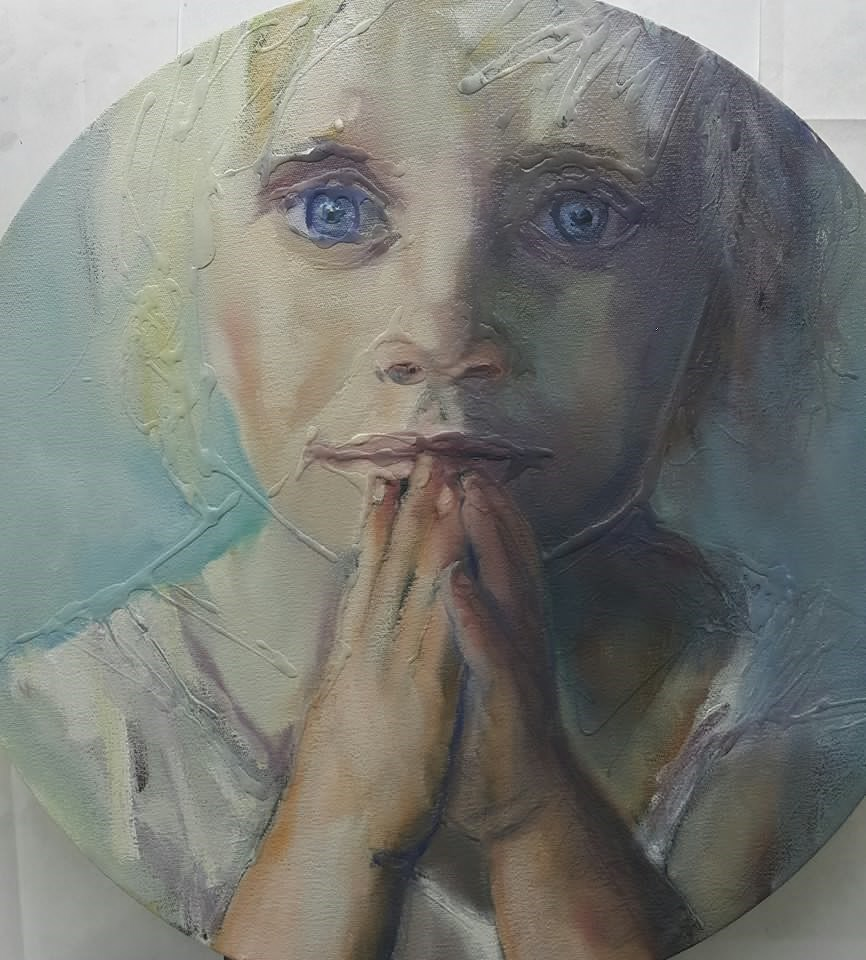 """All I need is love"" original fine art by Rentia Coetzee"
