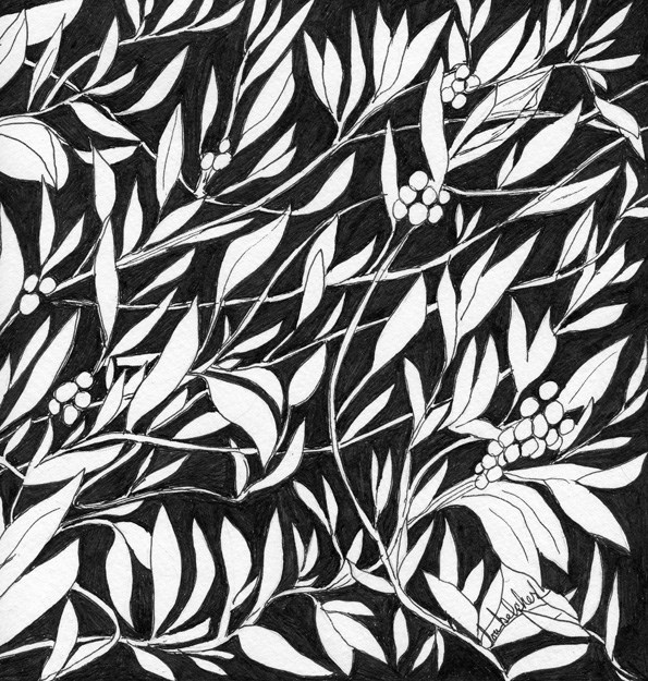 """Happy Berries"" original fine art by Lou Belcher"