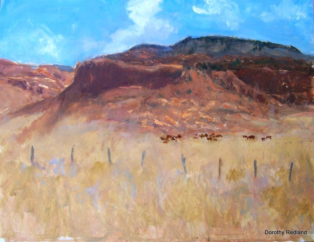 """Red Hills of home"" original fine art by Dorothy Redland"