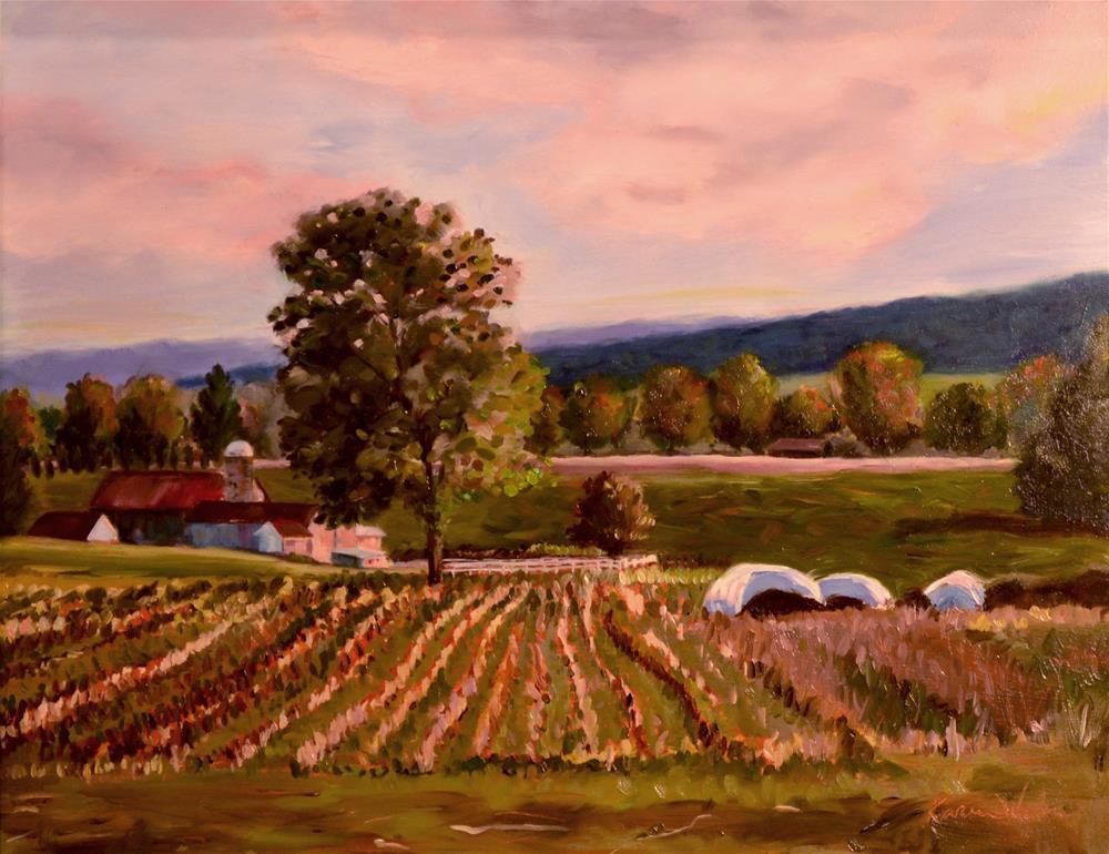 """""""Fields at Rest"""" original fine art by Karen Weber"""