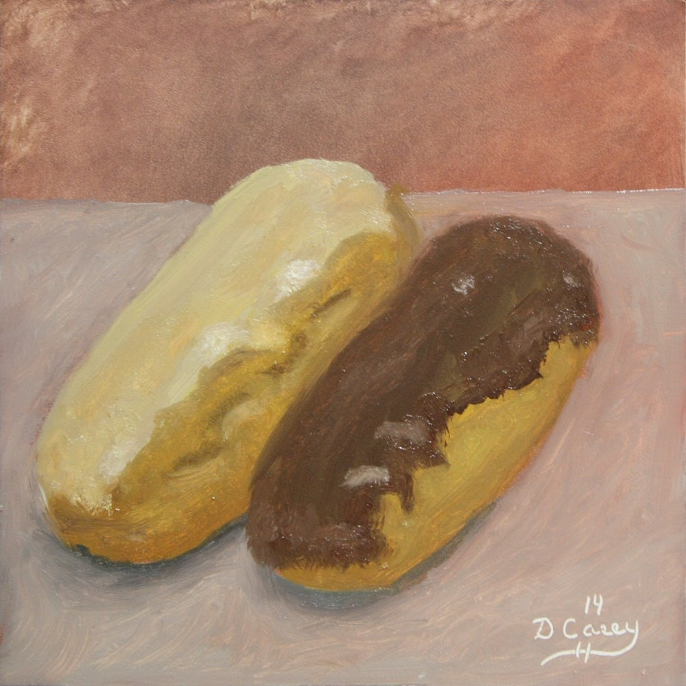 """""""Kitchen Painting - Donuts 006"""" original fine art by Dave Casey"""
