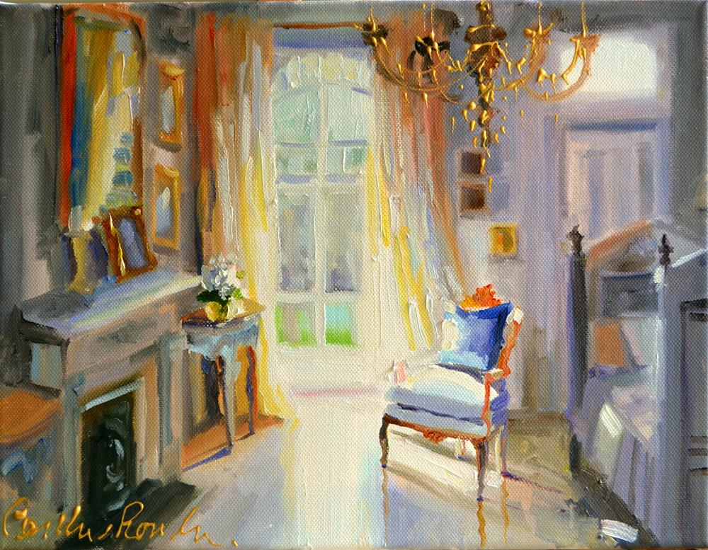"""""""CHAMBRE FRANCAISE"""" original fine art by Cecilia Rosslee"""