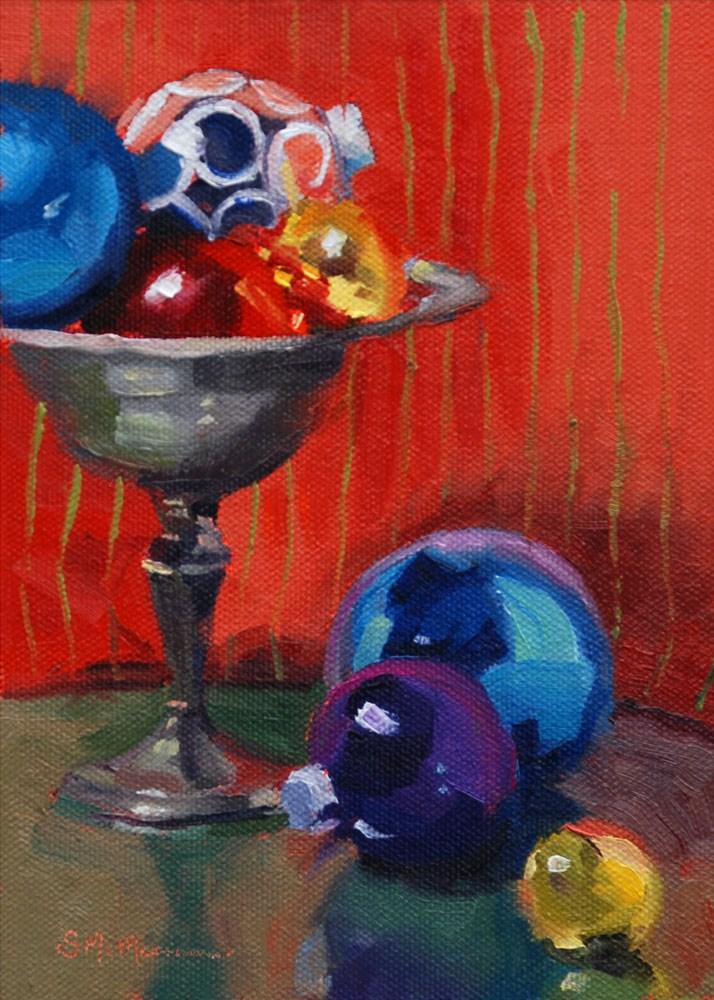 """Ornament Party"" original fine art by Susan McManamen"