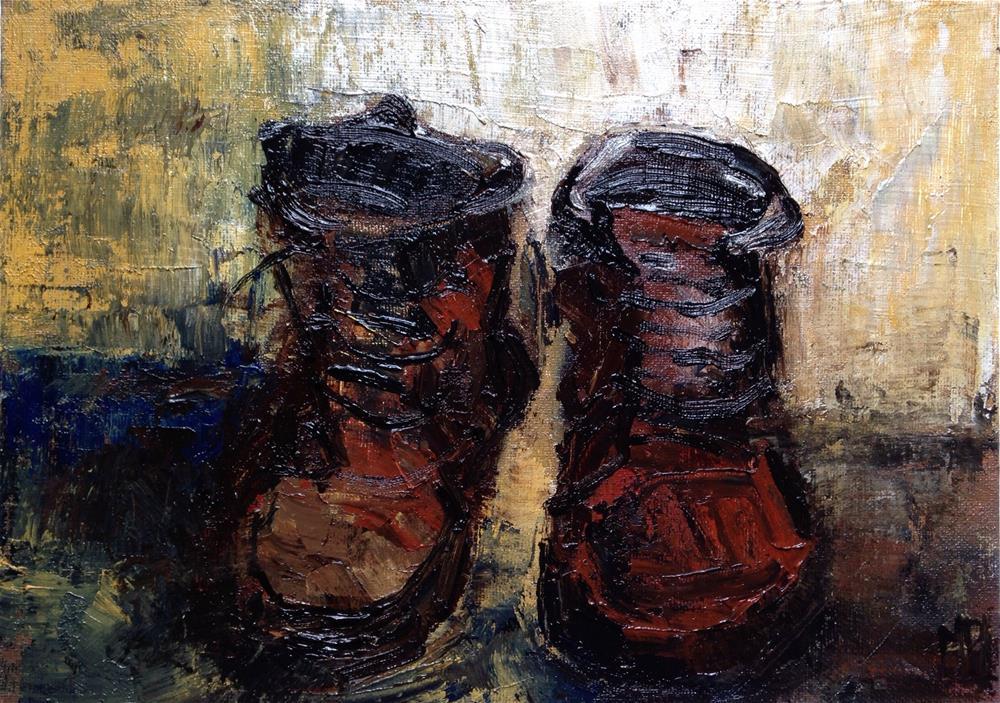"""""""Boots"""" original fine art by Monica Pinotti"""