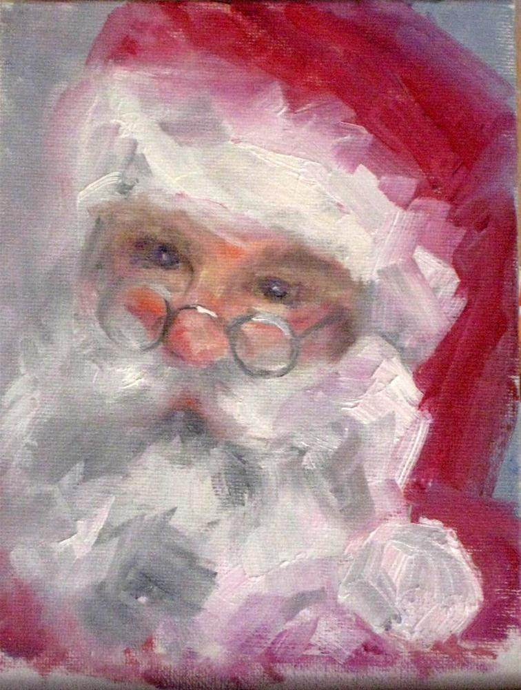 """Santa"" original fine art by Marcia Hodges"