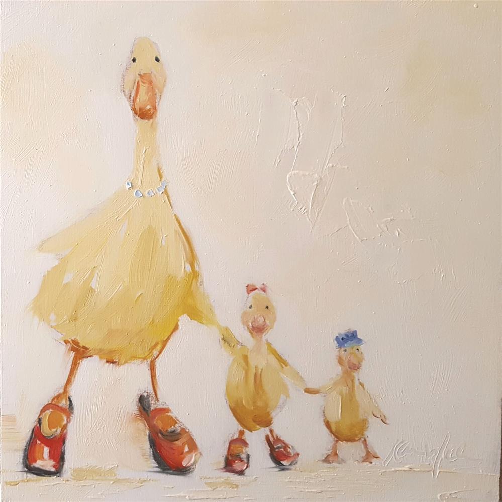 """Family Outing"" original fine art by Karen Weber"