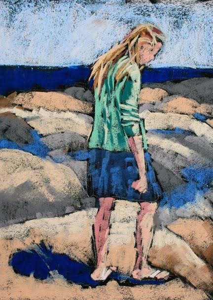 """Billie Study"" original fine art by Mary Anne Cary"