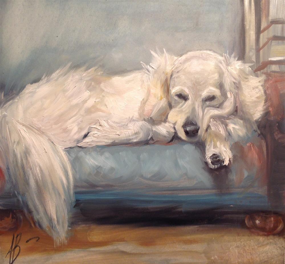 """""""Golden's afternoon"""" original fine art by Annette Balesteri"""