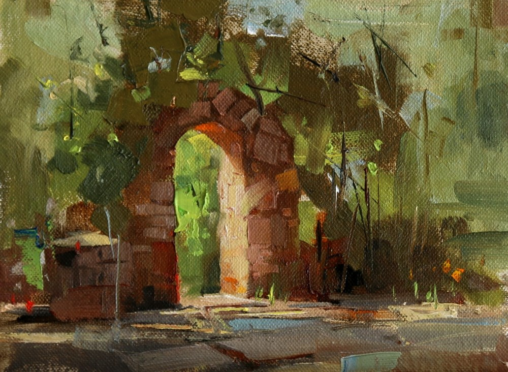 """""""Arch Way of Mayfield Park"""" original fine art by Qiang Huang"""