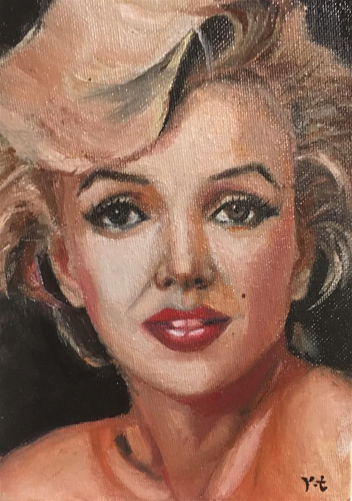 """""""Portrait of Marilyn Monroe 2"""" original fine art by tian yin"""