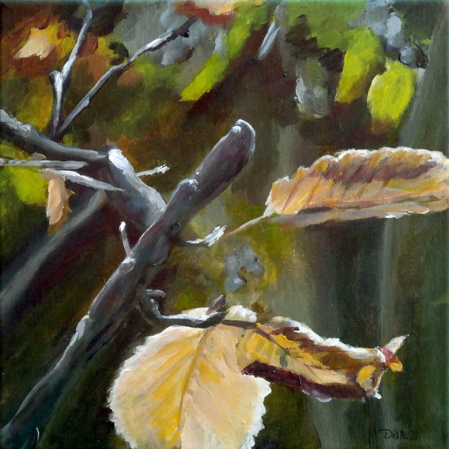 """0799 Over the Hedge"" original fine art by Dietmar Stiller"