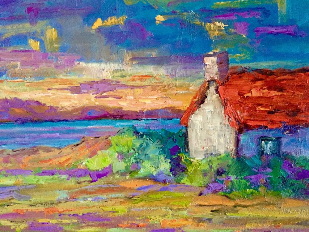 """""""Isle of Skye Sunset"""" original fine art by Liz Zornes"""