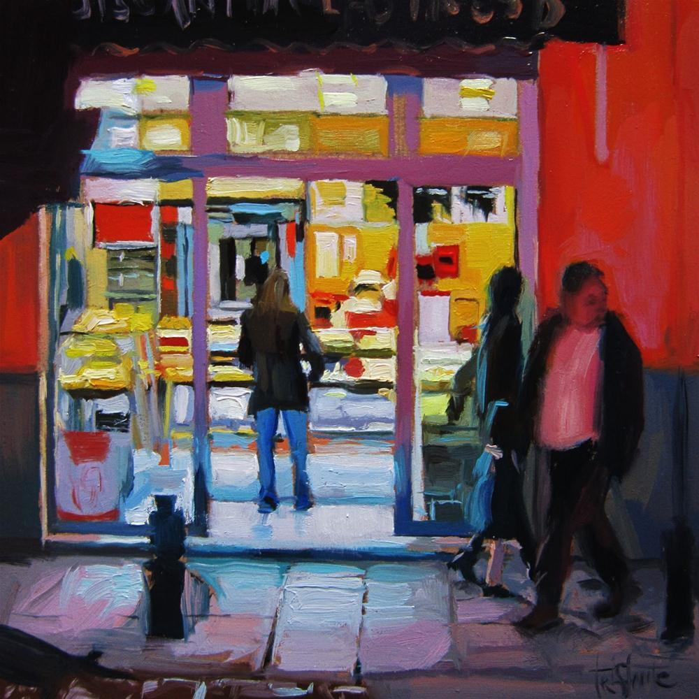 """Nocturne #1, Bakery"" original fine art by Víctor Tristante"