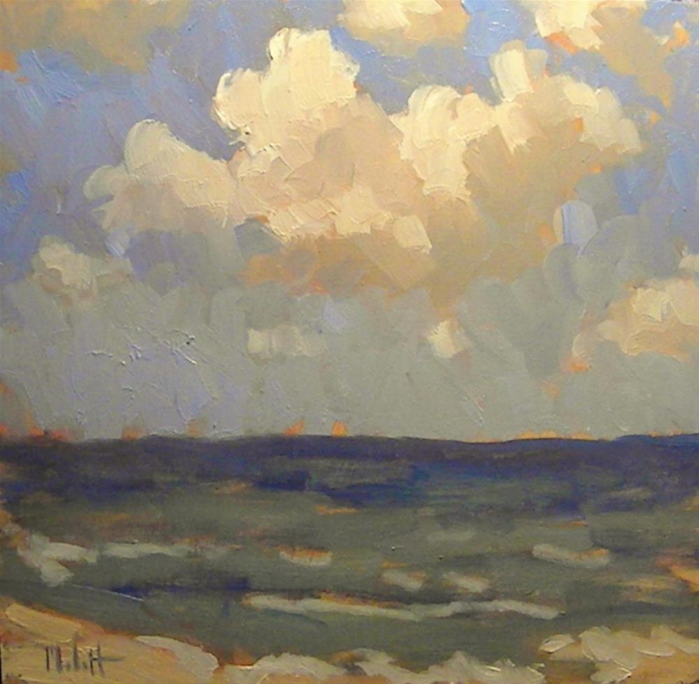 """Hawaii Beach and Surf Inspiration 8x8 Original Oil  Painting"" original fine art by Heidi Malott"
