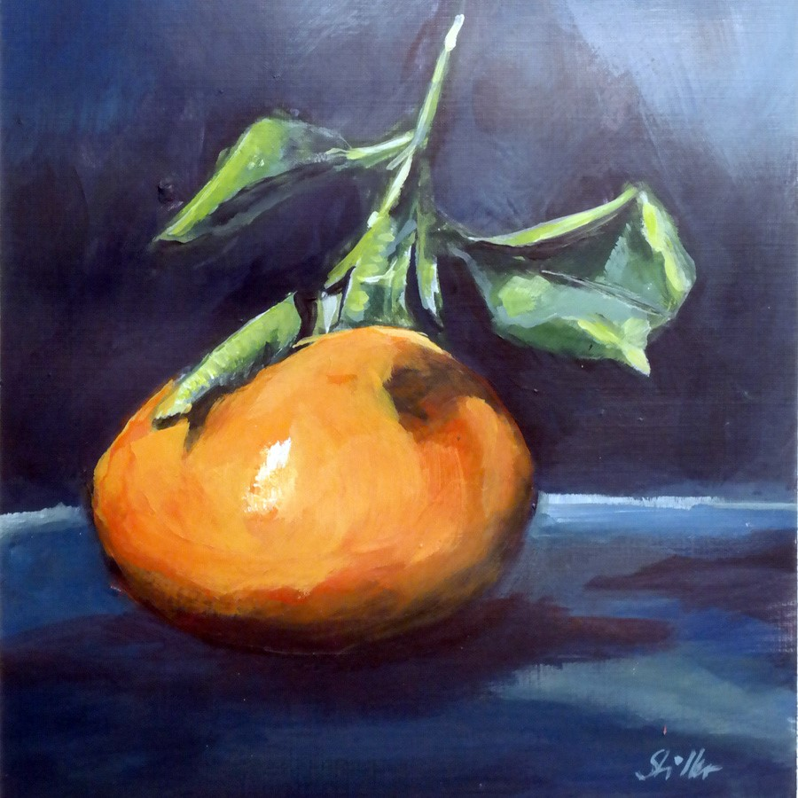 """3048 Christmas Tangerine"" original fine art by Dietmar Stiller"
