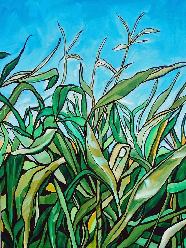 """""""Lost in a Corn Maze"""" original fine art by Lauren Kuhn"""