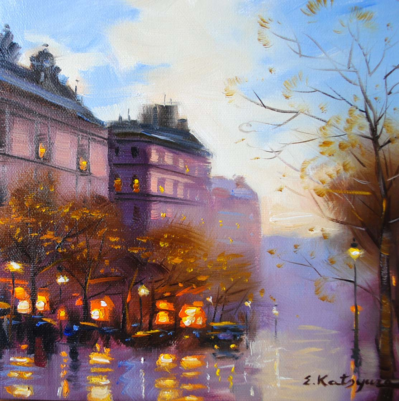"""""""Paris Memories II"""" original fine art by Elena Katsyura"""