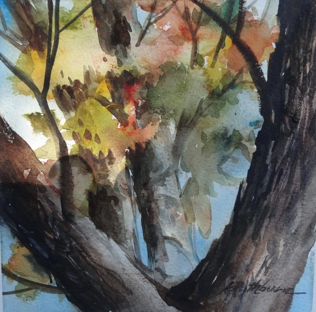 """Fall Through the Limbs"" original fine art by Kathy Los-Rathburn"