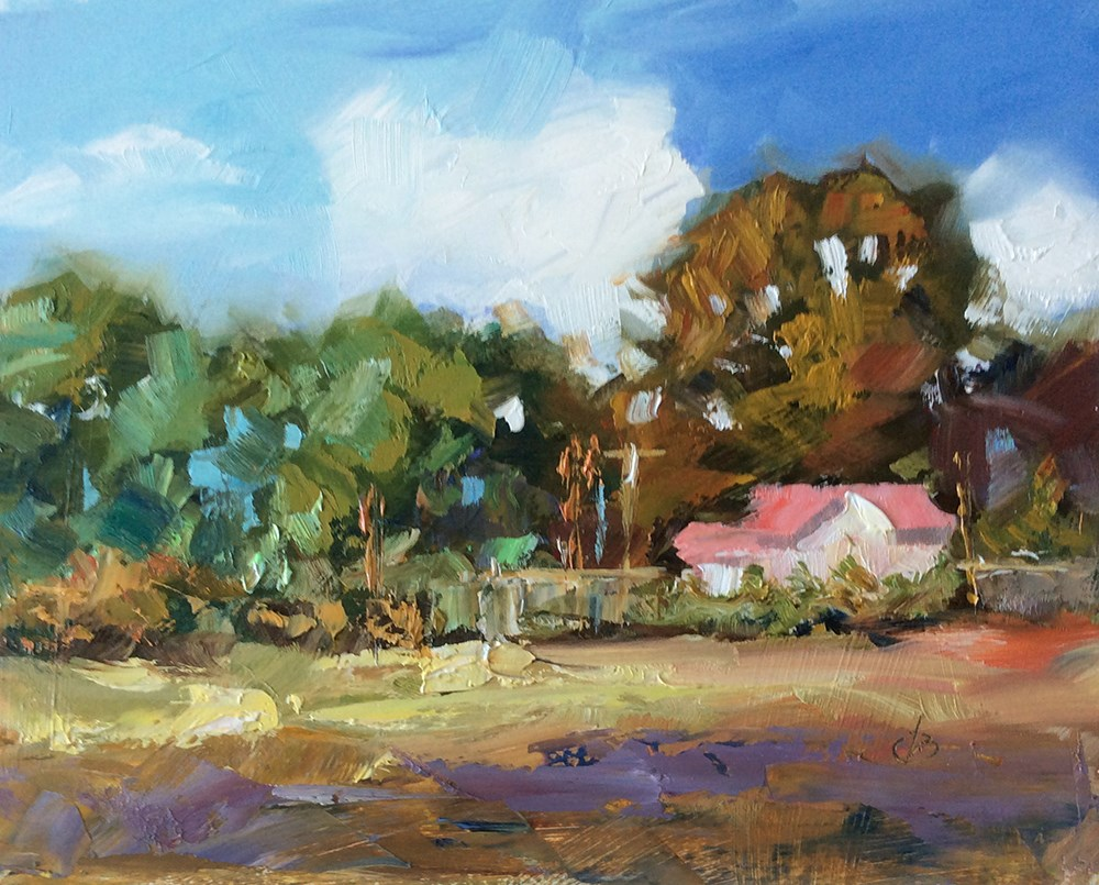 """COUNTRY LIVING"" original fine art by Tom Brown"