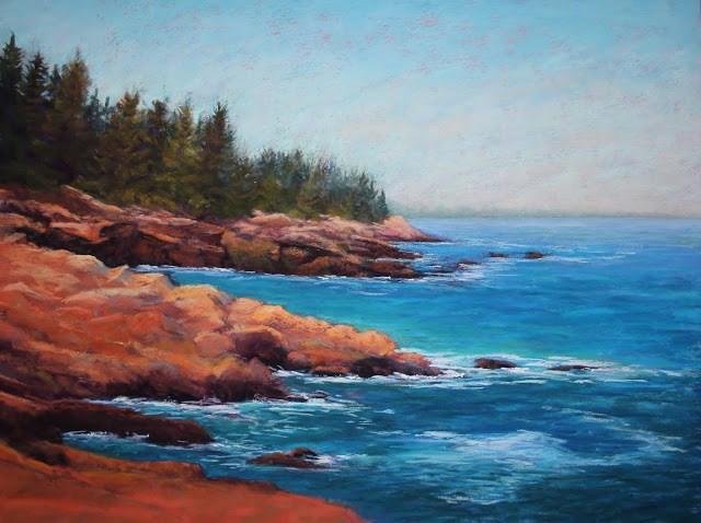 """Ocean Solitude"" original fine art by Sharon Lewis"