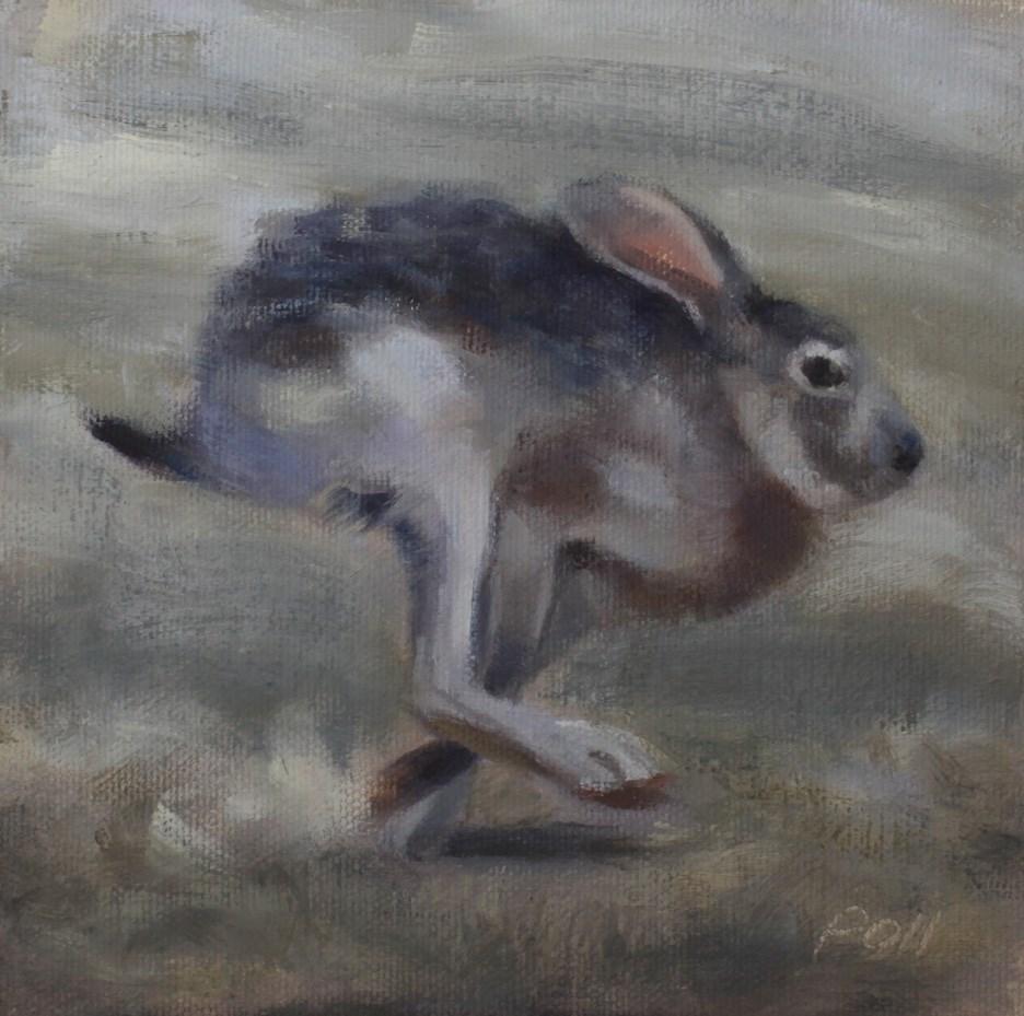 """Running Jack"" original fine art by Pamela Poll"