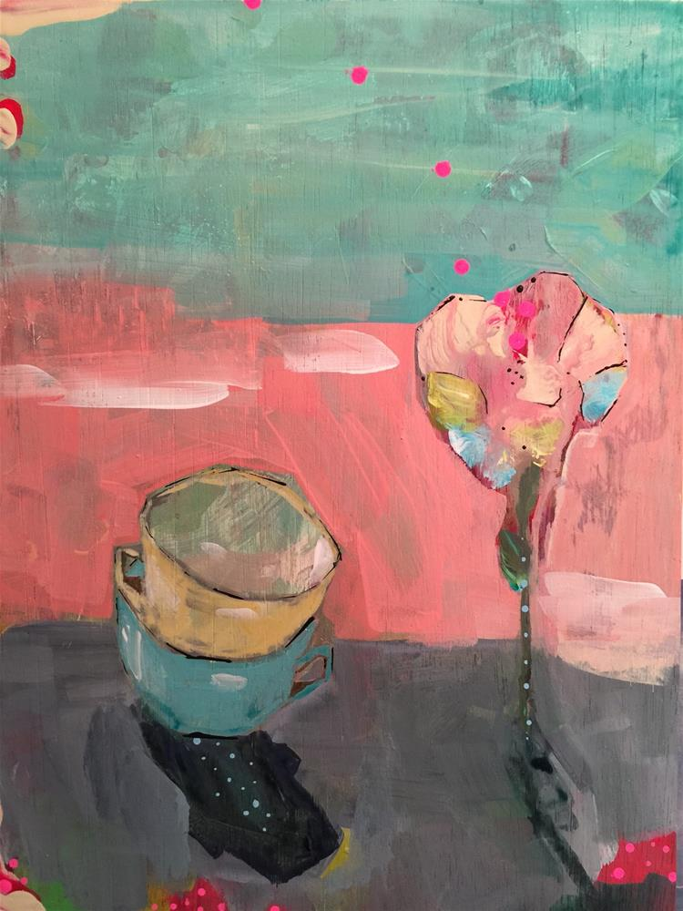 """""""198 Stacked and Planted"""" original fine art by Jenny Doh"""