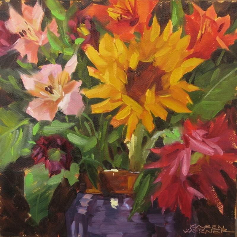 """""""Flower Happy II"""" original fine art by Karen Werner"""