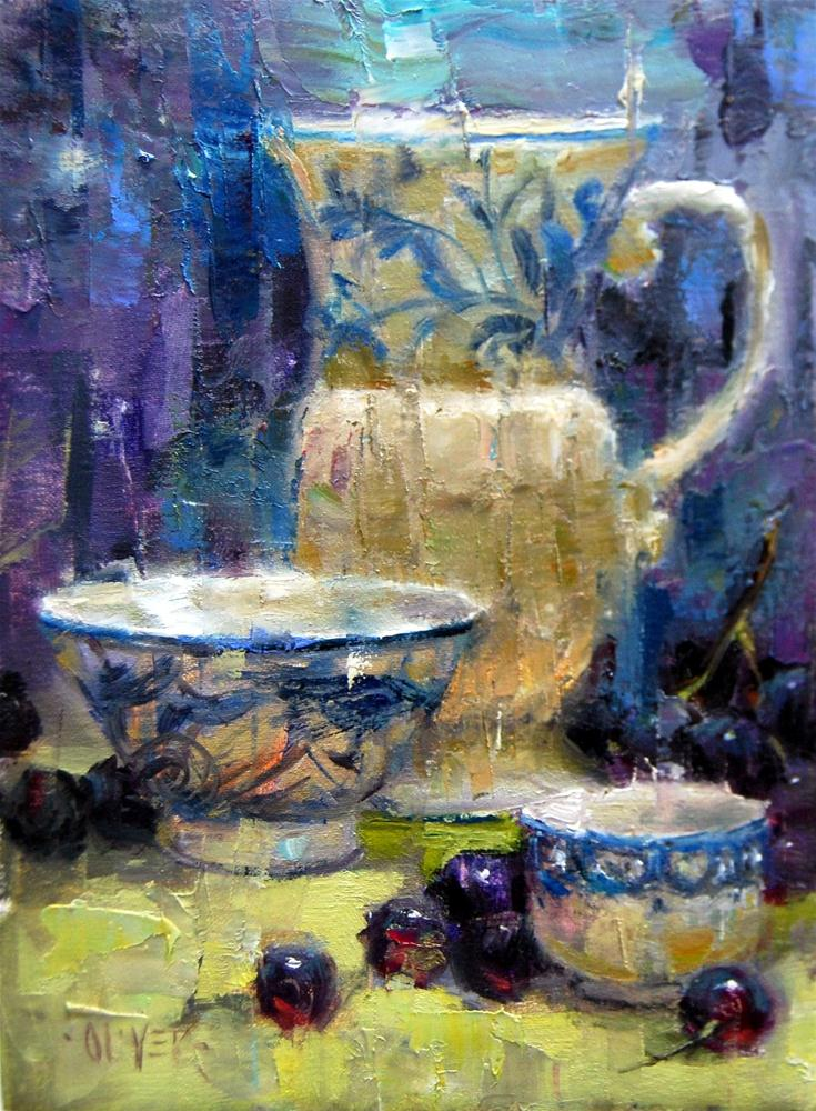 """""""Blue and White Study"""" original fine art by Julie Ford Oliver"""