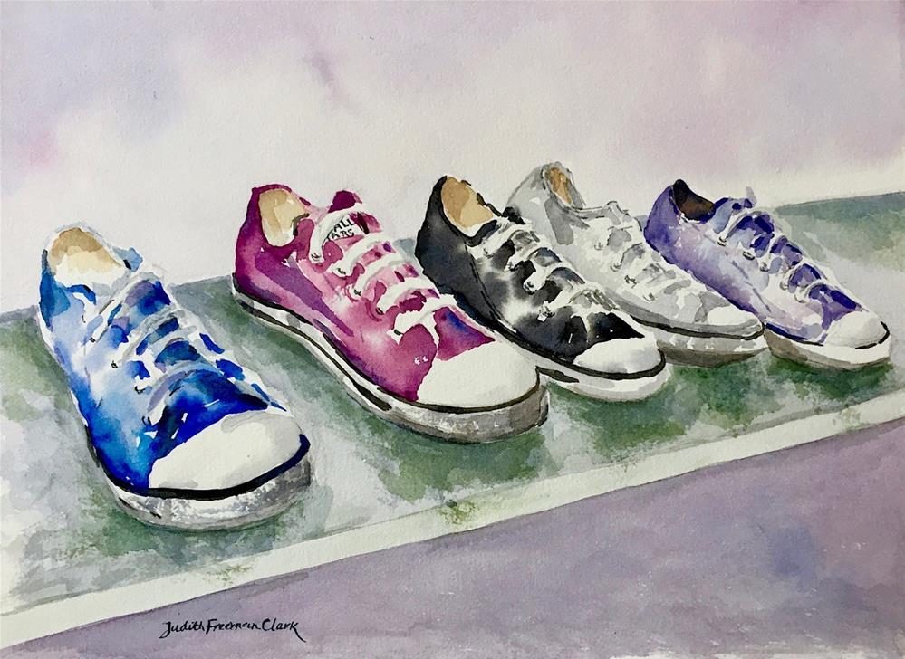 """""""An All Star Line-Up"""" original fine art by Judith Freeman Clark"""