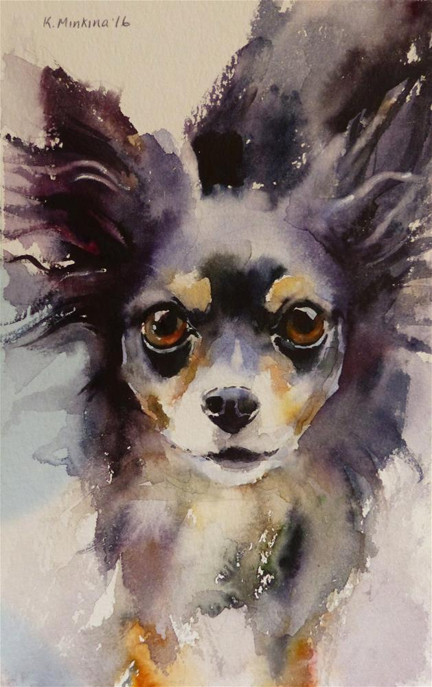 """adopt201 - Ella Bella"" original fine art by Katya Minkina"