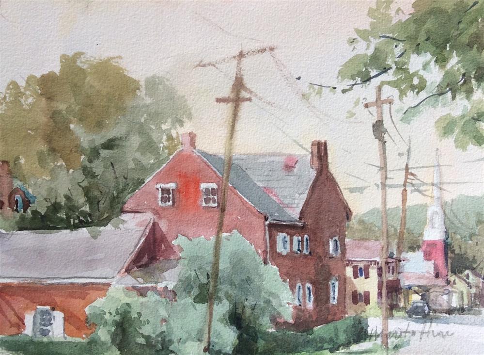 """View from Elizabeth Street"" original fine art by Marita Hines"