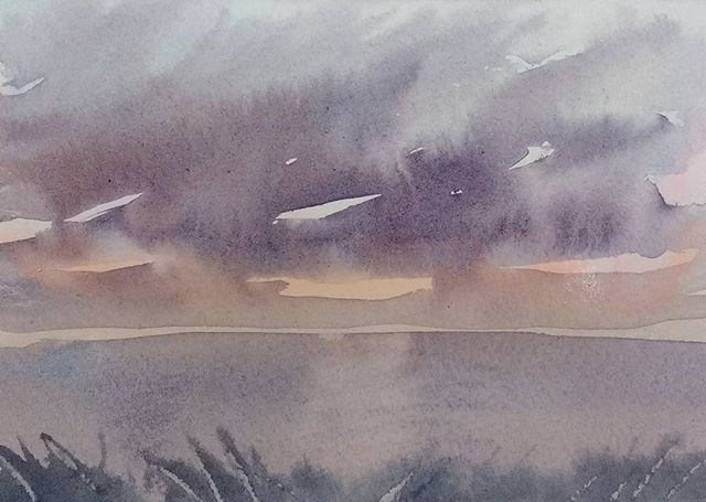 """Stormy Gulf Skies"" original fine art by Maria Peagler"