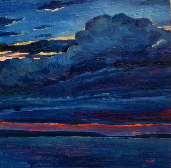 """A Real Unreal Sky"" original fine art by Nicki Ault"
