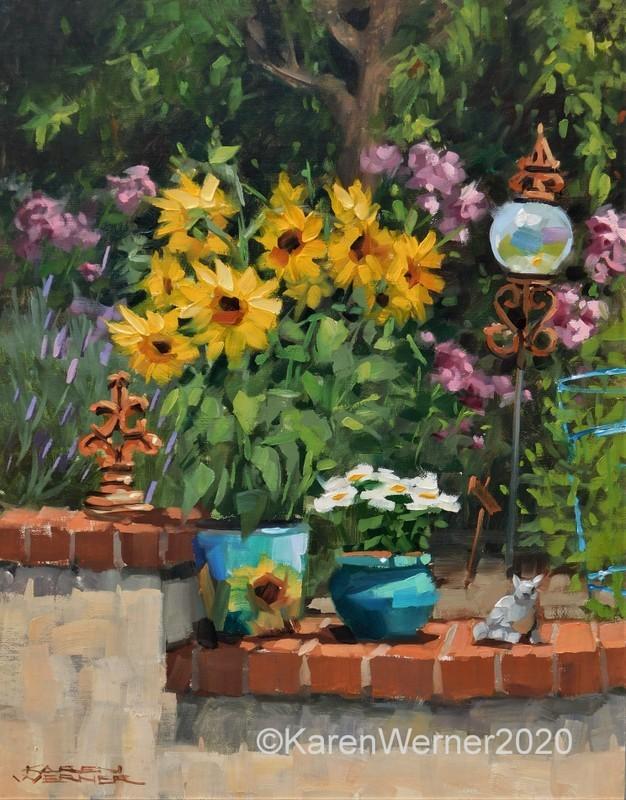 """""""Garden Decor"""" original fine art by Karen Werner"""