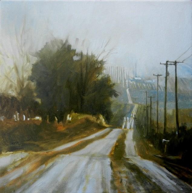 """Tecumseh Road landscape oil painting by Robin Weiss"" original fine art by Robin Weiss"
