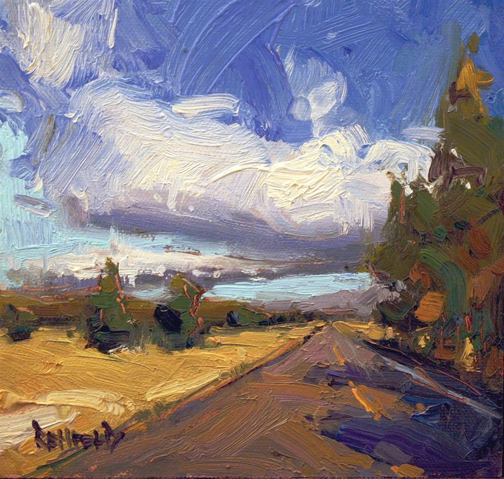 """""""On The Road to Bend Oregon"""" original fine art by Cathleen Rehfeld"""