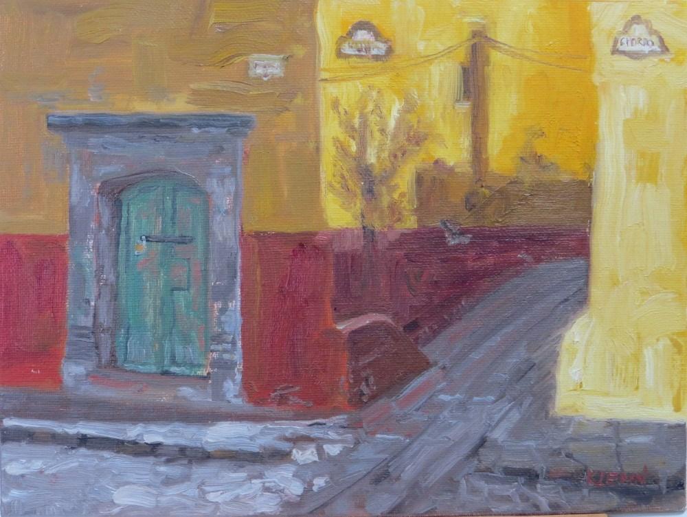 """Shadows on the Wall"" original fine art by Richard Kiehn"