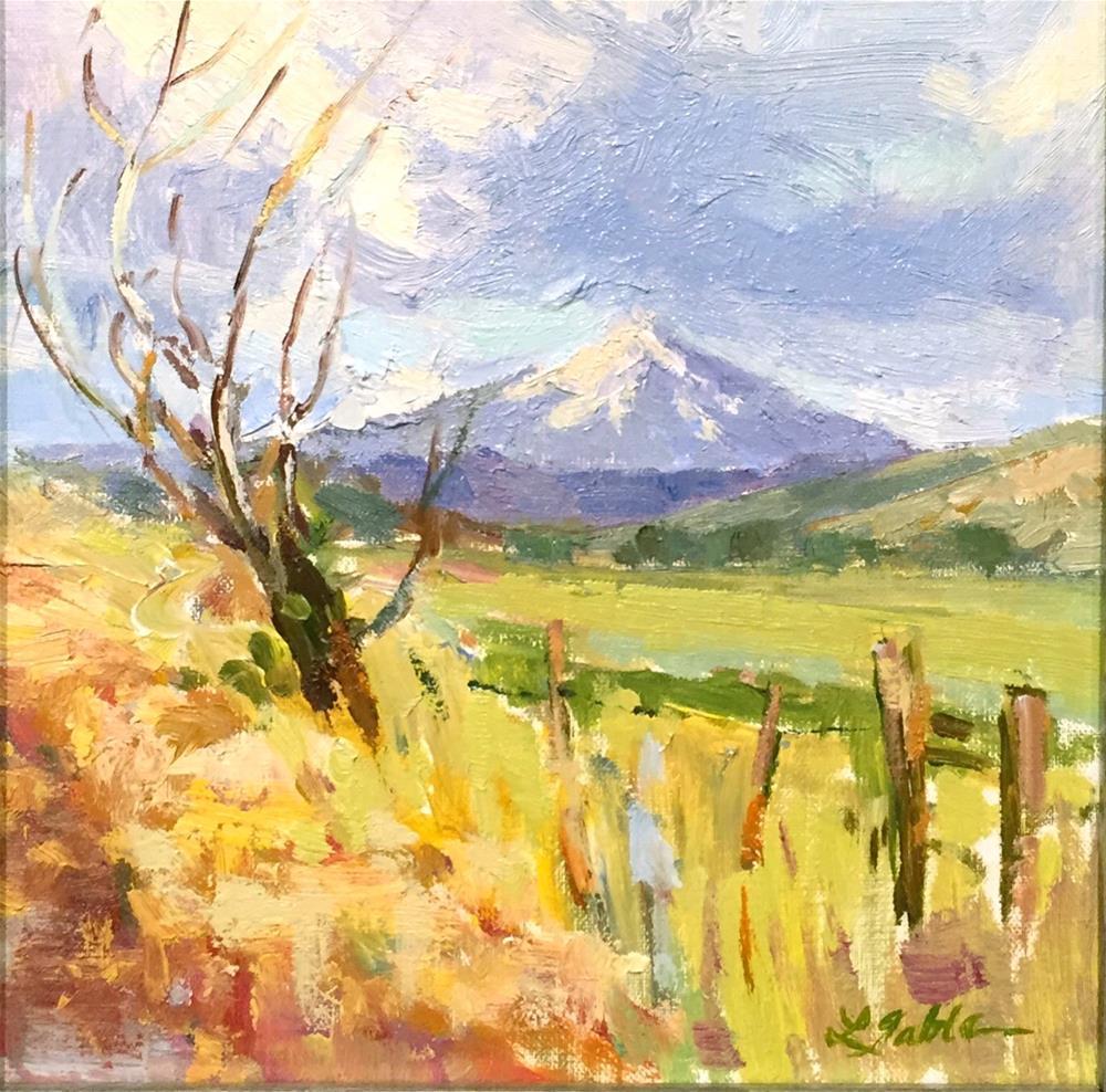 """Dufur View of Mt Hood"" original fine art by Laura Gable"