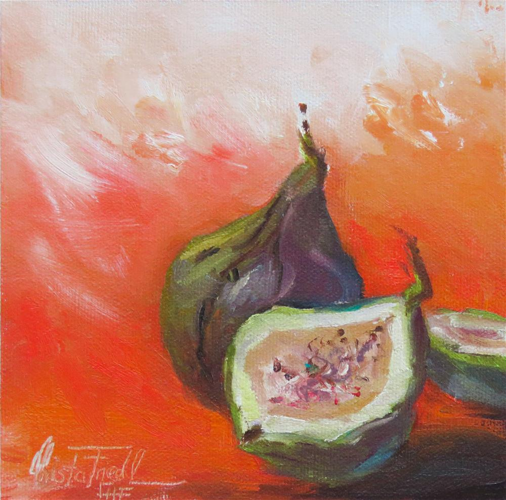 """Figs"" original fine art by Christa Friedl"