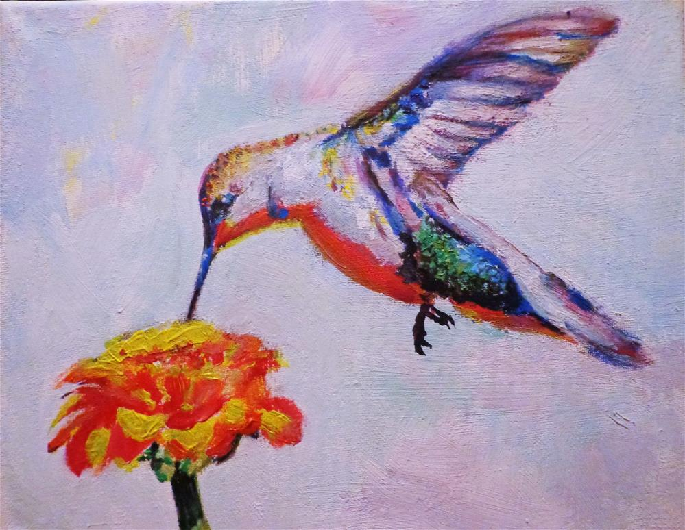 """Hummingbird"" original fine art by Maria Z."