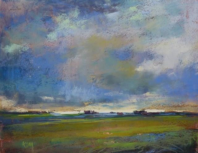 """Favorite Paintings of 2016: Dramatic Skies"" original fine art by Karen Margulis"