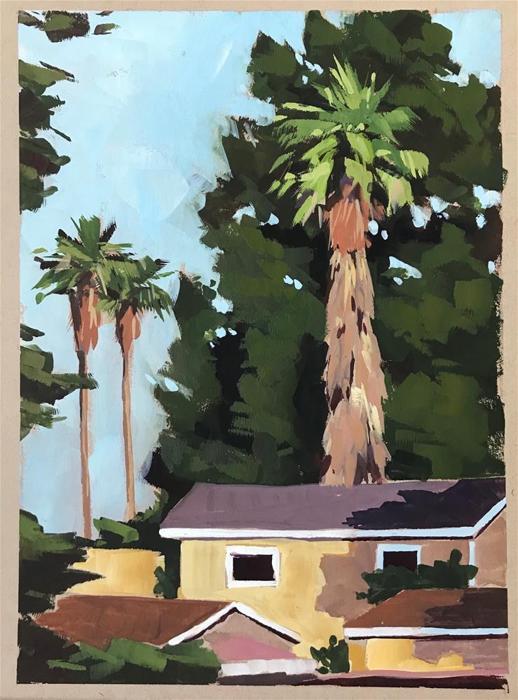 """Trees of Carpinteria"" original fine art by Sharon Schock"