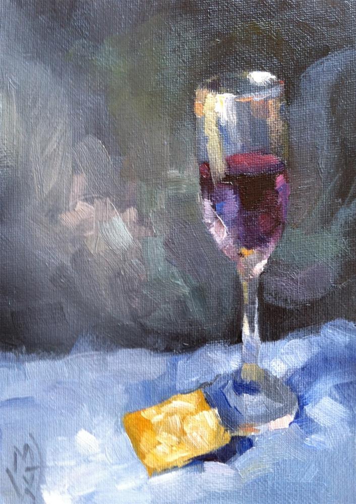 """Wine and Cracker"" original fine art by Michael Williamson"
