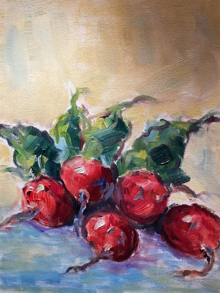 """""""Radishes"""" original fine art by Gayle Lambeth"""