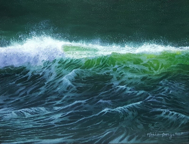 """Sea of Green"" original fine art by Mario Parga"