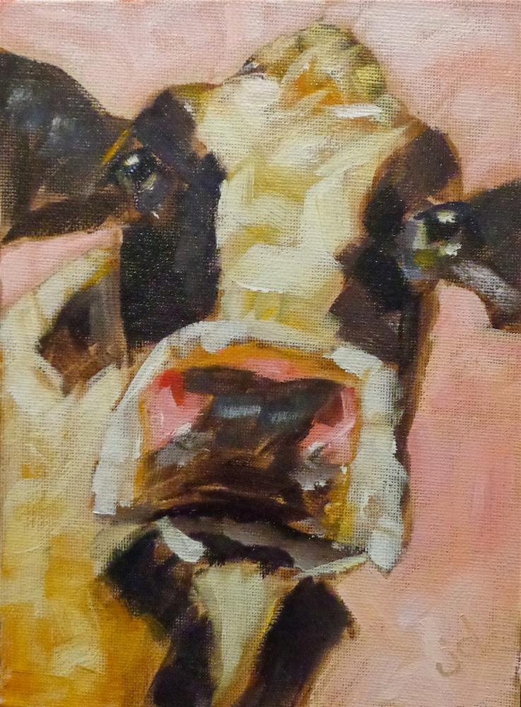 """Cow 10"" original fine art by Jean Delaney"
