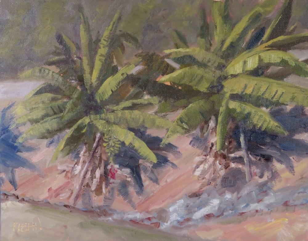 """Bananas in Morning Sun"" original fine art by Richard Kiehn"